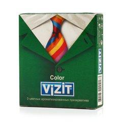Визит презервативы ароматизированные цветные