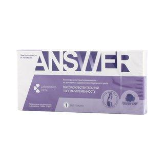 Ансвер тест на беременность кассетный